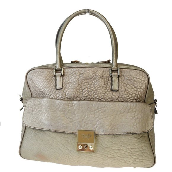 ANYA HINDMARCH Logo Carker Hand Tote Bag Leather C